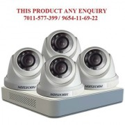 Hikvision 2 MP 4ch Turbo Hd Dvr (Ds-7104HQHI-F1) With 4 Dome (DS-2CE-56DOT-IRPF) Surveillance Kit