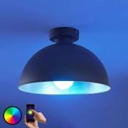 LED ceiling light Bowl WiFi 31cm black/silver