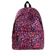 Colorful Flowers Pattern Print Travel Backpack School Shoulders Bag for Girls Size: 40cm x 30cm x 17cm