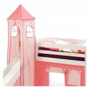 IDIMEX Turm MAX zu Bett mit Rutsche, pink/rosa
