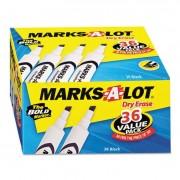 Desk-Style Dry Erase Marker, Chisel Tip, Black, 36/pack