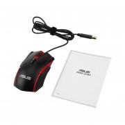 ASUS GT200 Gaming Mouse 4000dpi Mecánicos Cableados USB Ratón óptico Negro De Luz RGB