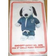 "Peanuts Snoopys Wardrobe For 11"" Plush Snoopy Warm Up Suit Outfit"