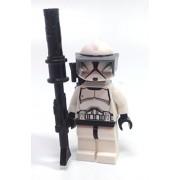 Star Wars Lego Star Wars Clone Trooper Sniper Mini Figure with Blaster Rifle Visor and Backpack