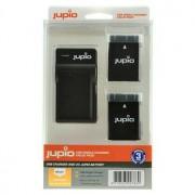 Jupio 2 st batterier motsv. Nikon EN-EL14/EN-EL14A, inkl. USB-laddare