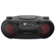 Sistem audio Energy Sistems Boombox 6, 12 W, stereo, Bluetooth, FM Radio, CD, USB, SD, MP3, Audio in, portabil (Negru)
