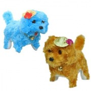 New pinch Musical Puppy Walk And Bark for kids ( pack of 2) (multicolor)
