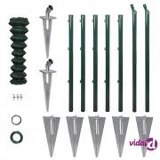 vidaXL Set žičane ograde sa stupovima i drugim priborima 1 x 15 m