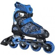 Oxer Patins Oxer Flynit Dream - In Line - Fitness - ABEC 7 - Adulto - PRETO/AZUL