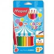Комплект цветни моливи Maped, 12 цвята, 223201