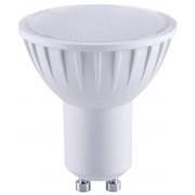 LED-es fényforrás, ( opál búrás, műanyag házas spot ) 5W-os teljesítményű, GU10 foglalattal, 2700K-es színhőmérsékletü, SMD LED ( 320 lm ) Tracon ( SMDGU105W )