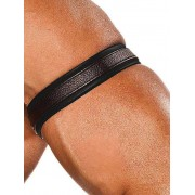 Colt Leather Bicep Strap Black