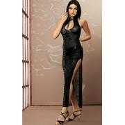 Aya suknia + stringi (czarny)