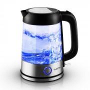 Klarstein Deep Blue ceainic 1,7 l 2200W albastru cu LED-uri de iluminat