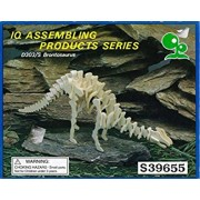 IQ Assembling Products Series 3-D Wooden Fossil Skeleton Dinosaur Model Kit Project Puzzles - 4 pack, 4 different Dinosaurs