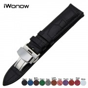 Genuine Leather Watch Band for Casio Seiko Citizen Diesel Fossil Steel Clasp Belt Wrist Strap 18mm 19mm 20mm 21mm 22mm 23mm 24mm