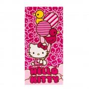 Плажна кърпа Hello Kitty 70x140 розова