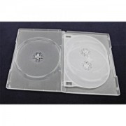 ESPERANZA Box with Clear Tray for 4 CD/DVD 14mm ( 100 Pcs. PACK)