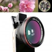 Zomei G2 3 En 1 Universal 0.6x Lente Gran Angular + 37mm 0.42x Lente Fisheye Lente + Clip Para El IPhone, Samsung, HTC, Nokia, Huawei, Xiaomi, Meizu