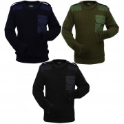 vidaXL Camisolas de trabalho p/ homem 3 pcs azul/verde tropa/preto XL