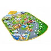 Covor interactiv educational CITY pentru copii, cu redare muzica, predare engleza si control volum, dimensiuni 80x54cm
