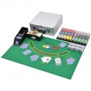 Sonata Комбиниран покер/блекджек комплект, 600 лазерни чипа, алуминий