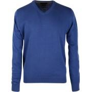 Profuomo Pullover V-Hals Royal - Blau S