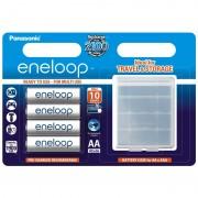 4 x Acumulator R6 Panasonic Eneloop BK-3MCCEC4BE + cutie pentru depozitare