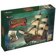 3D Jigsaw Puzzle The Spanish Armada-San Felipe CubicFun 3D Puzzle T4017h 248 Pieces Decorative Fashion Best Seller Cubic