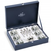 Silver Coffee Tea Set for Six by Chinelli made in Italy