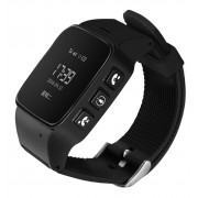 Ceas GPS Copii si Seniori iUni U100, Telefon incorporat, Pedometru, Notificari, Wi-fi, Black