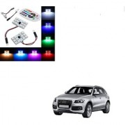 Auto Addict Car 12 LED RGB Roof Light with IR Remote Car Fancy Lights For Audi Q5