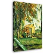 Paul Cézanne: Tavacska a Jas de Bouffanban, télen (20x25 cm, Vászonkép )