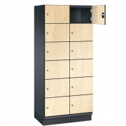 CAMBIO houten locker met 12 vakken HPL deuren (breed model)