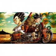 goku riding sticker poster dragon ball z poster anime poster size:12x18 inch multicolor