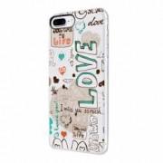 Husa Silicon Transparent Slim Love February Apple iPhone 7 Plus 8 Plus