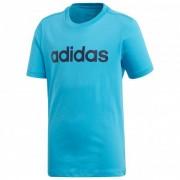 adidas - Boy's Essentials Linear Tee - Sport-T-shirt maat 164 turkoois/blauw