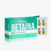Betaína Hcl 650mg 60 Cápsulas Ajuda na digestão