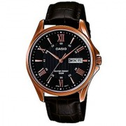 Casio Enticer day and date display Analog Black Dial Mens Watch - MTP-1384L-1AVDF (A881)