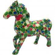 Pomme Pidou Spaarpot paard groen met stippen 21 cm