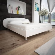 vidaXL Bed Frame 5FT King Size/150x200 cm Artificial Leather White