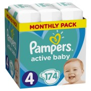 Pampers pelene Active Baby 4 Maxi, 174 kom
