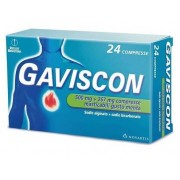 Reckitt Benckiser H.(It.) Spa Gaviscon 500 Mg + 267 Mg Compresse Masticabili Gusto Menta 24 Compresse In Blister