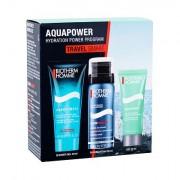 Biotherm Homme Aquafitness confezione regalo doccia gel 40 ml + schiuma da barba Foam Shaver 50 ml + crema idratante 20 ml uomo