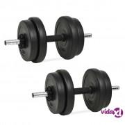 vidaXL Set Utega 20 kg 14 komada