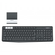 KBD, Logitech K375s Multi-Device Wireless Keyboard and Stand Combo, Graphite/Offwhite (920-008185)