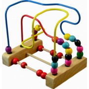 Labirint - circuit cu bile din lemn