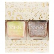 nails inc. Duo Tendance de Vernis à Ongles Champagne Shine nails inc. 2 x 14 ml