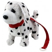 My Dancing Puppy Dalmatian Puppy Walk Along Toy Stuffed Plush Dog Realistic Dancing Walking Actions with Music Colors May Vary