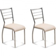Fabsy Interior - Classy Stainless Steel Chair In Beige By Fabsy Interiors (Buy 1 Get 1 Free)